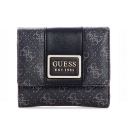 BILLETERA GUESS TYREN SLG SMALL TRIFOLD COLOR NEGRO