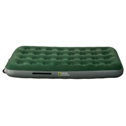COLCHON INFLABLE 1 PLAZA C/INFLADOR INTERNO NATIONAL GEOGRAPHIC COLOR VERDE