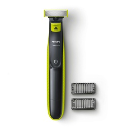 CORTABARBA ONE BLADE INALAMBRICA SECO/HUMEDO PHILIPS COLOR NEGRO