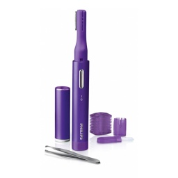 DEPILADORA BELLO FACIAL A PILAS PHILIPS COLOR VIOLETA
