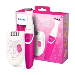 DEPILADORA Y RECORTADOR BIKINI PHILIPS COLOR BLANCO