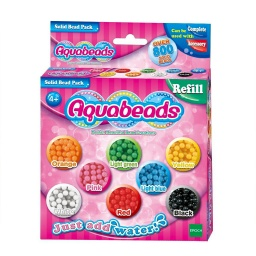 AQUABEADS SOLID BEAD PACK 8 COLORES