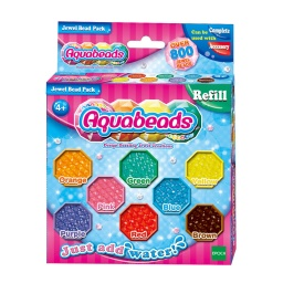 AQUABEADS JEWEL BEAD PACK 8 COLORES