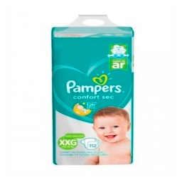 PAÑALES PAMPERS CONFORT SEC XXG PACK AHORRO X112